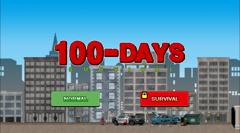 100 Days Title Screen